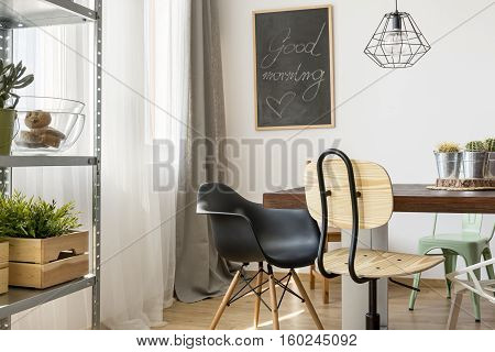 Light Room With Communal Table