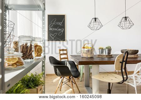 Dining Area In Industrial Style