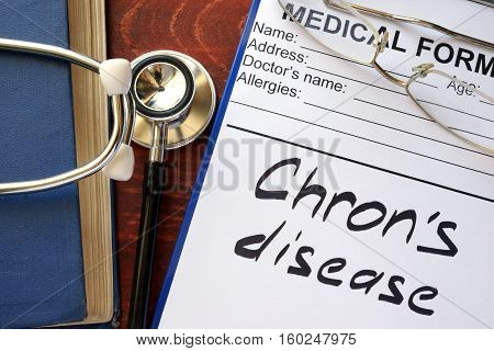 Chron Disease written in a medical form.