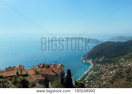 sea view from eze village mountain top