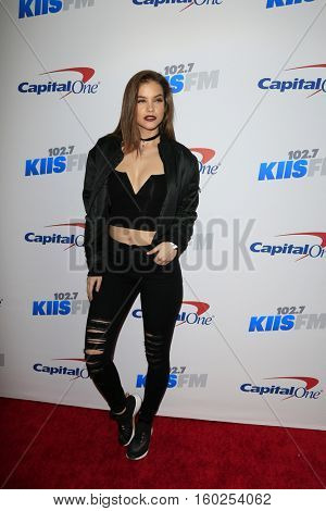 LOS ANGELES - DEC 2:  Barbara Palvin at the 02.7 KIIS FM's Jingle Ball 2016 at Staples Center on December 2, 2016 in Los Angeles, CA