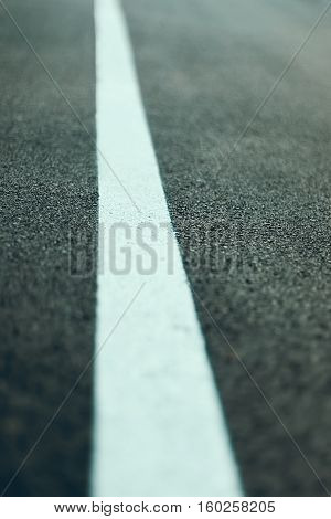 Close Up Asphalt Road Texture With White Line