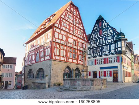madieval half-timbered houses of Rothenburg ob der Tauber, Germany