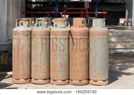 A Lot Of Danger Gas Bottle.