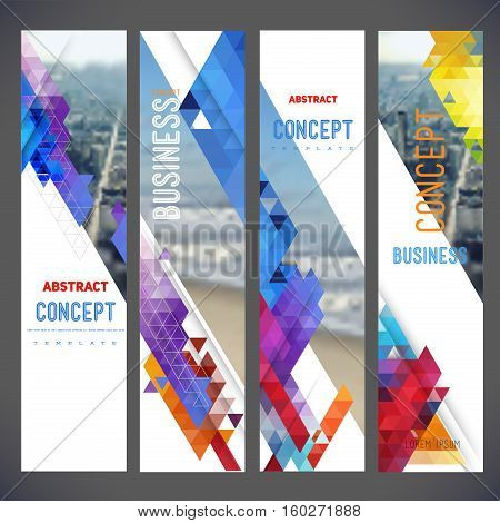 Vector set of banners, layout with colorful cityscape, space for logo and text.Design for Brochure, web sites, page, leaflet cover presentation, abstract design for layout
