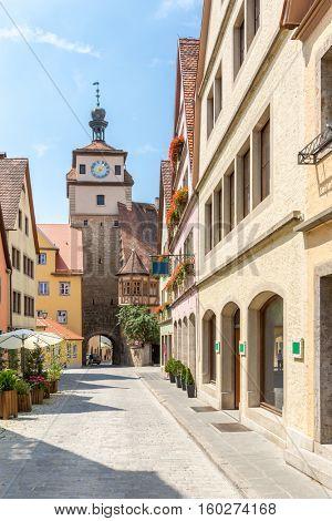 Historic town of Rothenburg ob der Tauber, Franconia, Bavaria, Germany