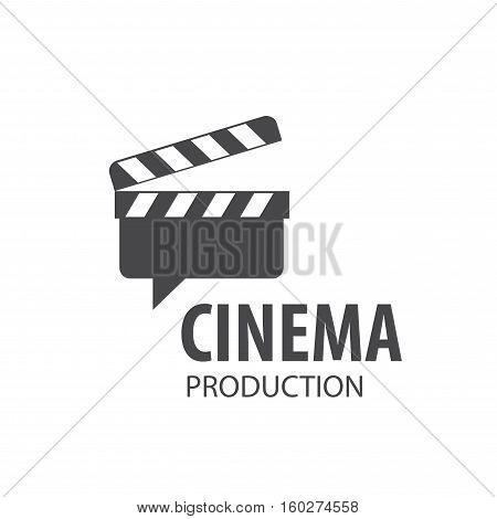 vector logo Slate Board for shooting movies