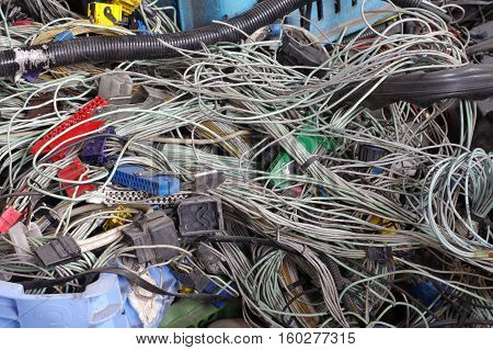 car electric wiring set recycling industry objects