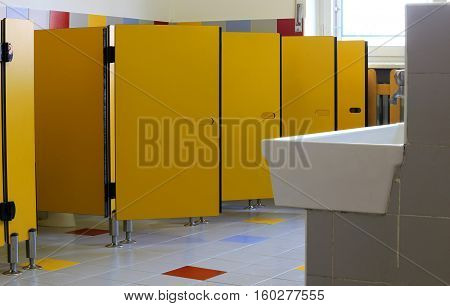 Sink And Toilets Of A Kindergarten