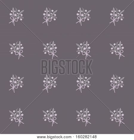 Floral background, pink and white bouquets on purple, stock vector illustration