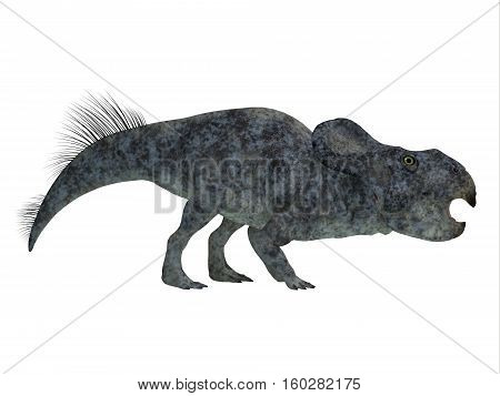 Protoceratops Dinosaur Side Profile 3D Illustration - Protoceratops was a herbivorous Ceratopsian dinosaur that lived in Mongolia in the Cretaceous Period.