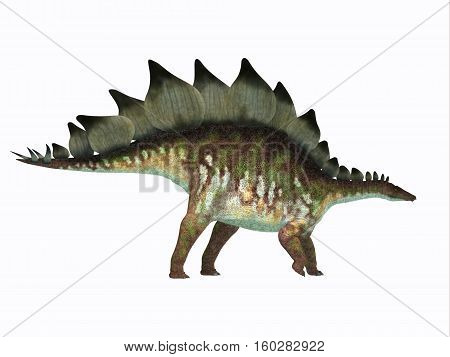 Stegosaurus Dinosaur Side Profile 3D Illustration - Stegosaurus was an armored herbivorous dinosaur that lived in North America during the Jurassic Period.