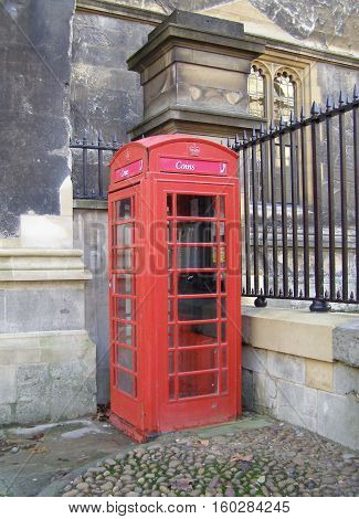 Red phone booth K6 (Oxford England United Kingdom)