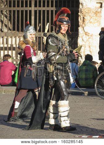 Roman Soldiers In Verona