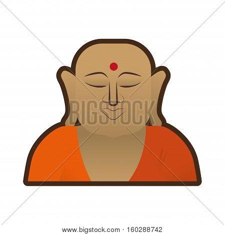 head buddha faith thai god vector illustration eps 10
