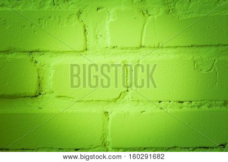 Close Up Of Old Brick Wall With Color