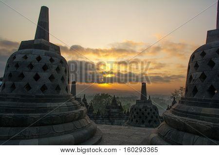 Borobudur Buddhist Temple, Yogyakarta, near Jackarta Indonesia