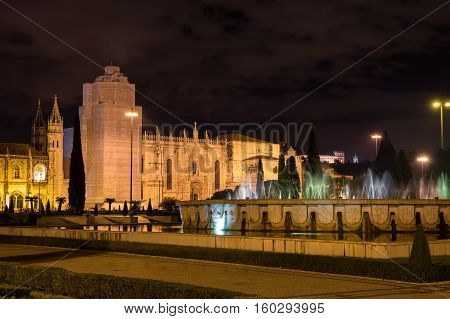 The Jeronimos Monastery or Hieronymites Monastery is a monastery of the Order of Saint Jerome near the Tagus river in Lisbon Portugal