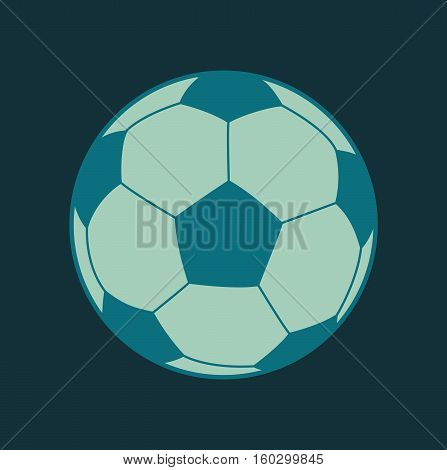 Soccer ball football flat design icon sport vector stock
