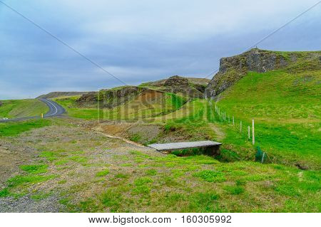 Coastline And Landscape Along The Steingrimsfjordur