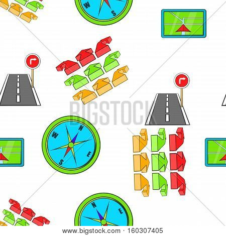 GPS pattern. Cartoon illustration of GPS vector pattern for web