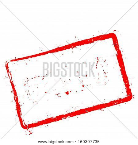 Greed Red Rubber Stamp Isolated On White Background. Grunge Rectangular Seal With Text, Ink Texture