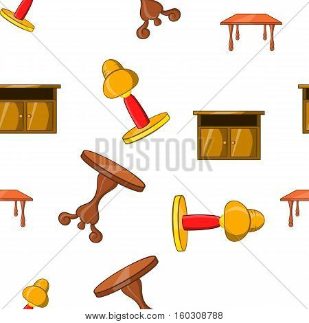 Home environment pattern. Cartoon illustration of home environment vector pattern for web