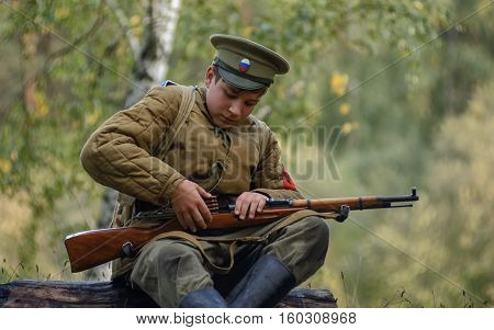 Krasnogvardeyskiy, Sverdlovsk Oblast, Russia - September 11, 2016: Historical Reenactment Of Russian