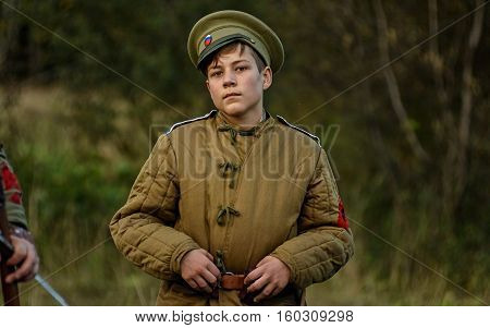 Krasnogvardeyskiy, Sverdlovsk Oblast, Russia - September 11, 2016: Historical Reenactment Of Russian