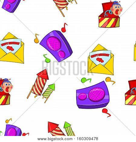 Holiday birthday pattern. Cartoon illustration of holiday birthday vector pattern for web