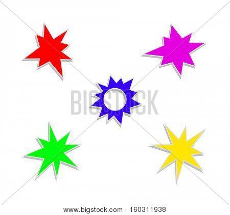 star splash stickers icon set