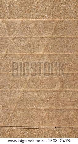 Brown Corrugated Cardboard Background - Vertical