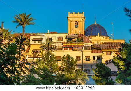 View of the Basilica menor of Santa Maria in Elche - Spain