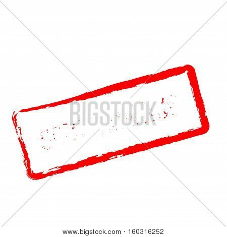 Consequence Red Rubber Stamp Isolated On White Background. Grunge Rectangular Seal With Text, Ink Te