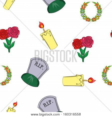 Burial pattern. Cartoon illustration of burial vector pattern for web