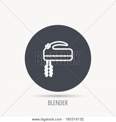 Blender icon. Mixer sign. Round web button with flat icon. Vector
