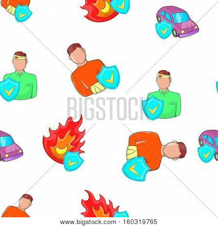 Emergency pattern. Cartoon illustration of emergency vector pattern for web