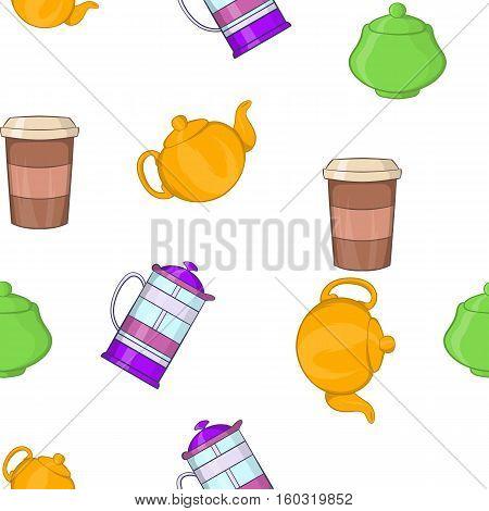 Beverage pattern. Cartoon illustration of beverage vector pattern for web