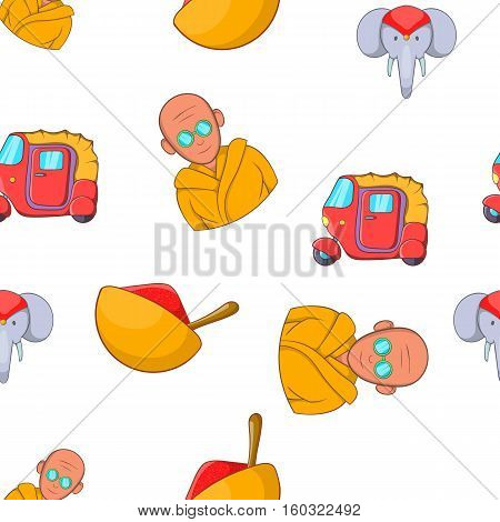 Stay in India pattern. Cartoon illustration of stay in India vector pattern for web