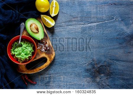 Sauce Guacamole In Bowl
