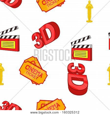 Movie pattern. Cartoon illustration of movie vector pattern for web