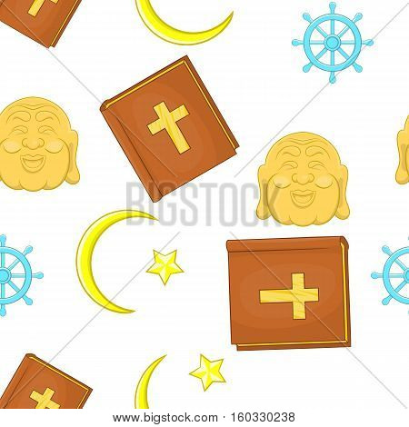 Faith pattern. Cartoon illustration of faith vector pattern for web