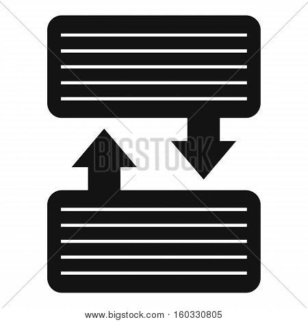 Infographic blocks with arrows icon. Simple illustration of blocks and arrowsvector icon for web design