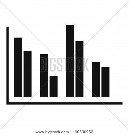 Financial analysis chart icon. Simple illustration of financial analysis chart vector icon for web design