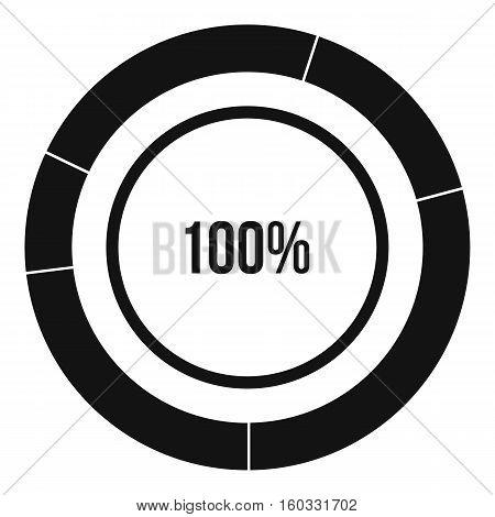 Diagram pie chart icon. Simple illustration of diagram pie chart vector icon for web design