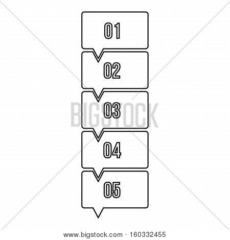 Five steps infographic icon. Outline illustration of five steps infographic vector icon for web design