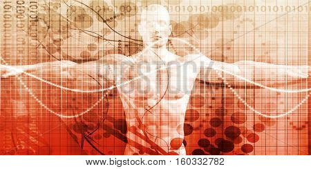 Advanced Technology and Science Abstract Background Concept 3d Illustration Render