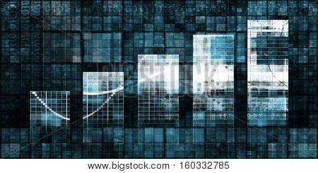 Digital Analytics Concept with Bar Chart Graph Art