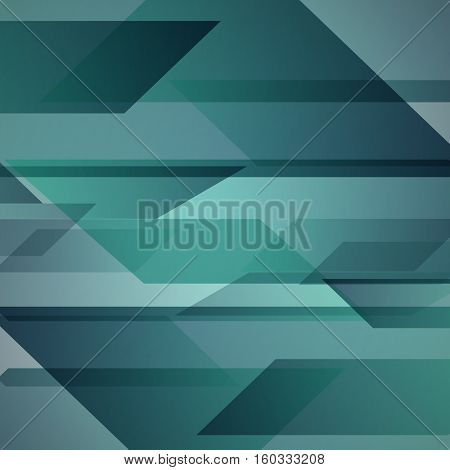 Abstract green background with geometric shapes overlapping, stock vector