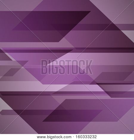Abstract purple background with geometric shapes overlapping, stock vector